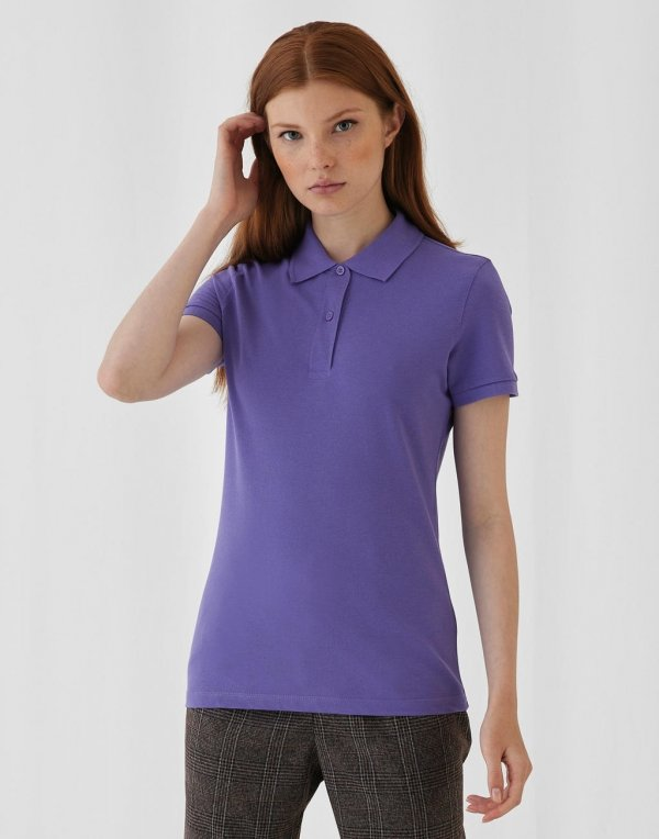 Tricou Polo Organic Dama, Inspire, B&C Collection