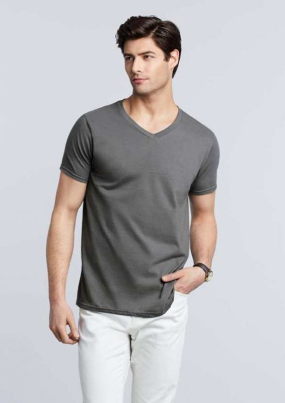 Tricou in V, Gildan Softstyle
