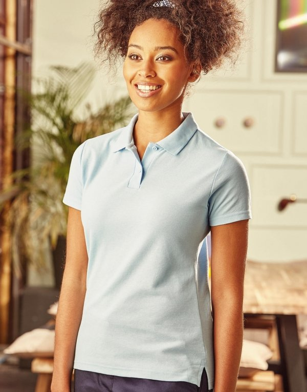 Tricou Polo Damă, Poly-Cotton, Russell