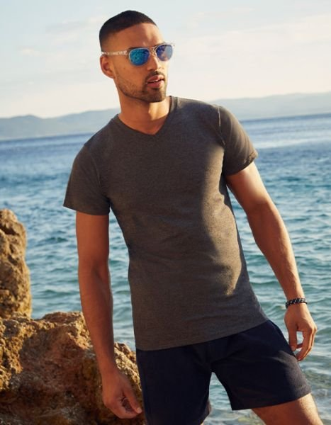 Tricou in V, Valueweight, Fruit of the Loom Marimi Mari