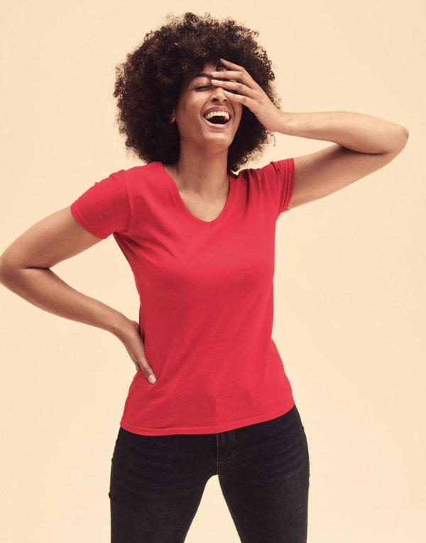 Tricou Damă Valueweight V-Neck, Fruit of the Loom